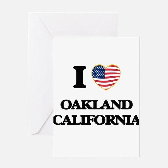 I love Oakland California USA Desig Greeting Cards
