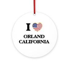 I love Orland California USA Desi Ornament (Round)