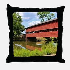 Sach's Covered Bridge Throw Pillow