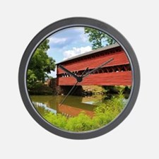 Sach's Covered Bridge Wall Clock