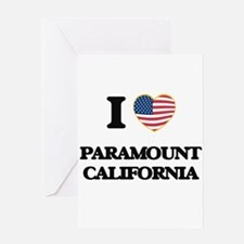 I love Paramount California USA Des Greeting Cards