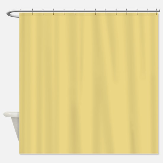 Solid Color - Custard Shower Curtain