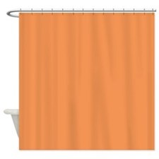 Solid Color - Tangerine Shower Curtain
