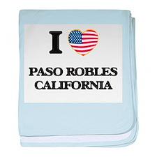 I love Paso Robles California USA Des baby blanket