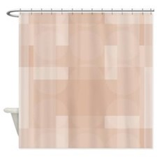 Layered Abstract - Sandstone Shower Curtain