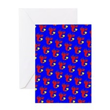 Blue Red Lobster Cuties Bud's Fave Greeting Cards