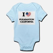 I love Pleasanton California USA Design Body Suit