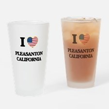 I love Pleasanton California USA De Drinking Glass