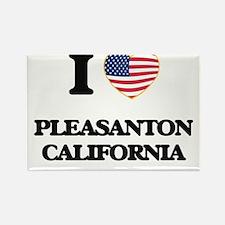 I love Pleasanton California USA Design Magnets