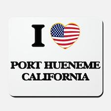 I love Port Hueneme California USA Desig Mousepad