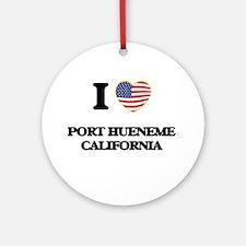 I love Port Hueneme California US Ornament (Round)
