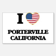 I love Porterville California USA Design Decal