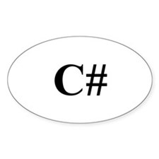 C# Oval Decal