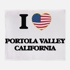 I love Portola Valley California USA Throw Blanket