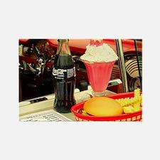 vintage rockabilly burger fries cola sunda Magnets