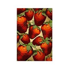 Lots of Strawberries Rectangle Magnet