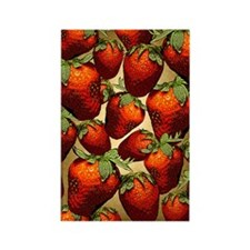 Lots of Strawberries Rectangle Magnet (10 pack)