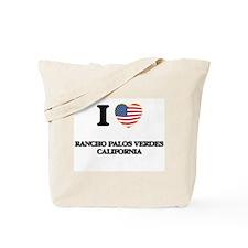 I love Rancho Palos Verdes California USA Tote Bag