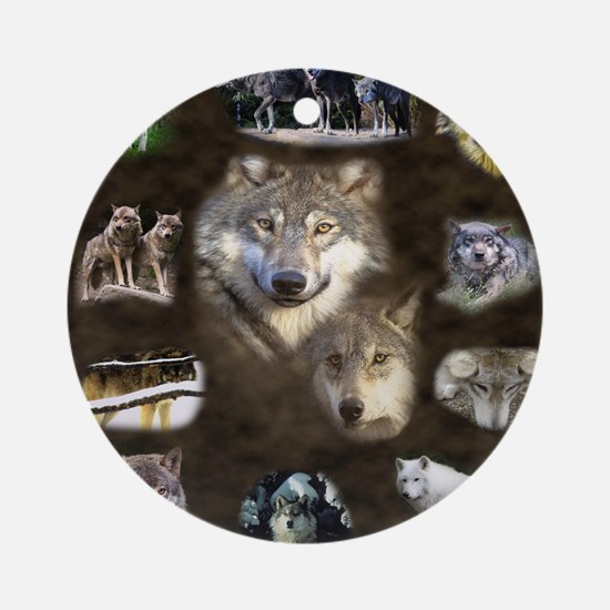 Wolfpack Round Ornament
