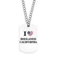 I love Redlands California USA Design Dog Tags