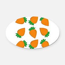 Orange Carrots Oval Car Magnet
