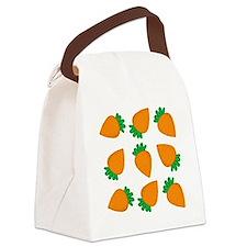 Orange Carrots Canvas Lunch Bag