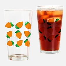 Orange Carrots Drinking Glass