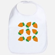 Orange Carrots Bib