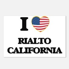 I love Rialto California Postcards (Package of 8)