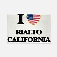 I love Rialto California USA Design Magnets