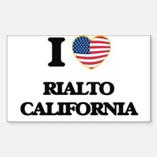 I love Rialto California USA Design Decal