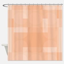 Layered Abstract - Tangerine Shower Curtain