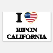 I love Ripon California USA Design Decal