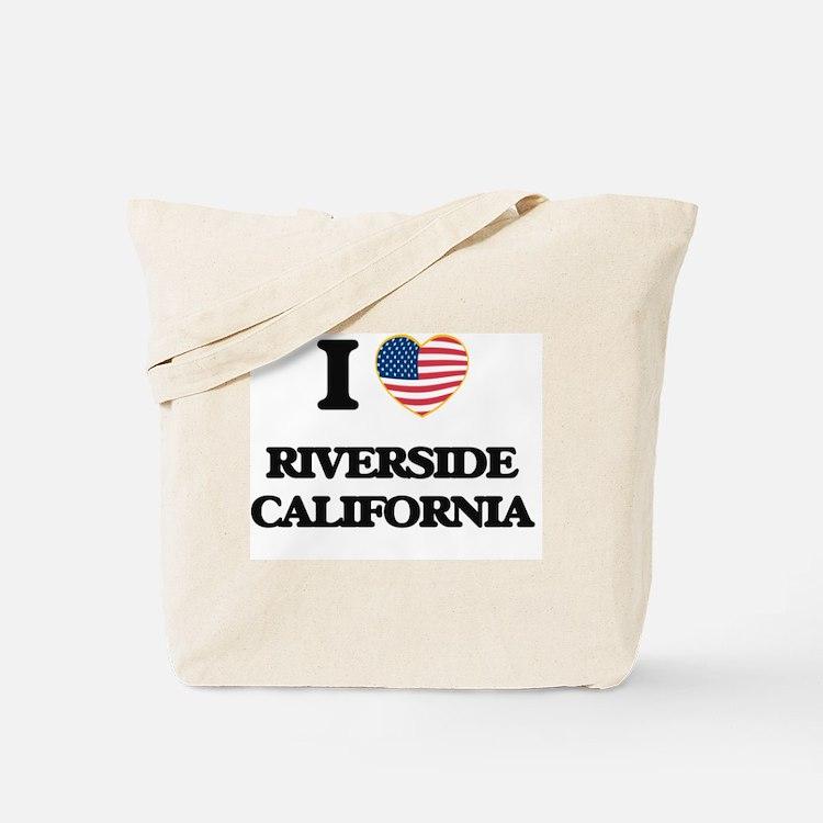 I love Riverside California USA Design Tote Bag