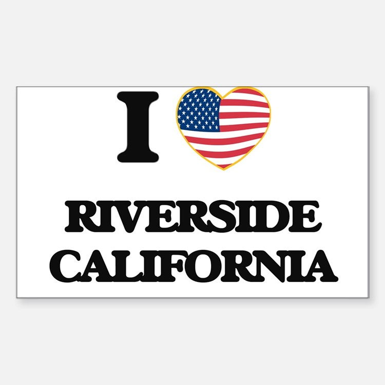 I love Riverside California USA Design Decal