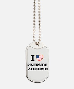 I love Riverside California USA Design Dog Tags