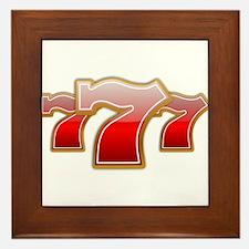 Las Vegas Lucky Sevens Framed Tile