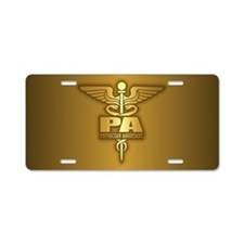 PA Gold Aluminum License Plate