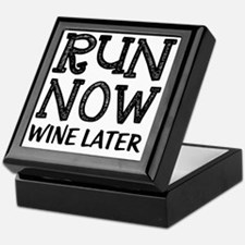 Run Now Wine Later Keepsake Box