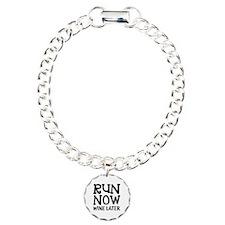 Run Now Wine Later Charm Bracelet, One Charm