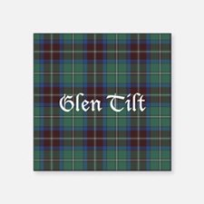 "Tartan - Glen Tilt dist. Square Sticker 3"" x 3"""