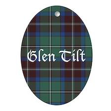 Tartan - Glen Tilt dist. Ornament (Oval)