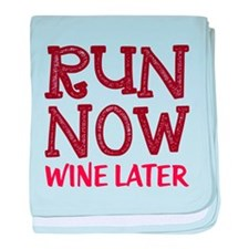 Run Now Wine Later baby blanket