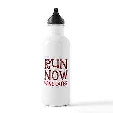 Run Now Wine Later Water Bottle
