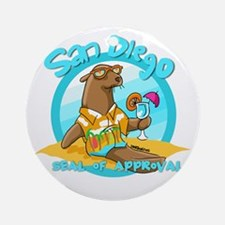 San Diego Seal of Approval Ornament (Round)