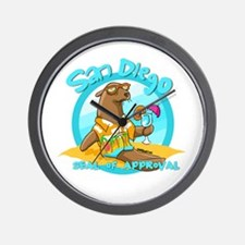 San Diego Seal of Approval Wall Clock