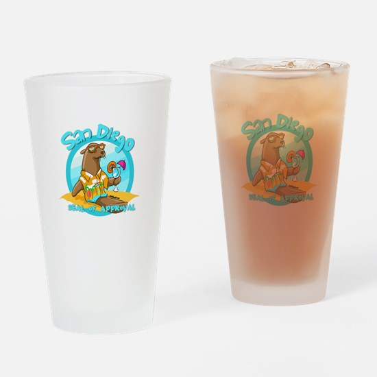 San Diego Seal of Approval Drinking Glass