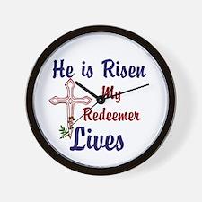 He Is Risen Wall Clock