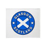 Glasgow scotland Fleece Blankets