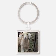 Cute Goat Square Keychain